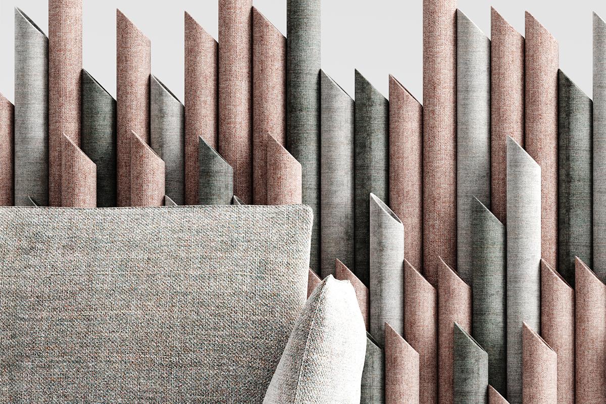 divisorio per ufficio cardboard-textile