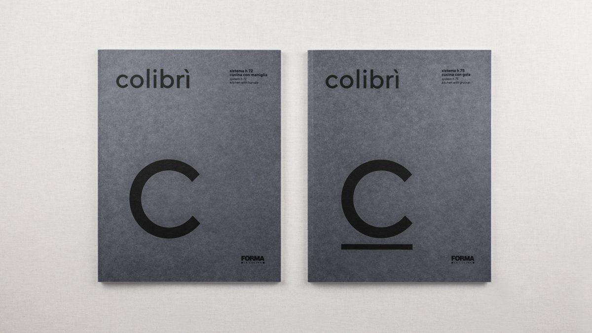 Foto dall'altro della copertina dei cataloghi Colibrì maniglia e gola
