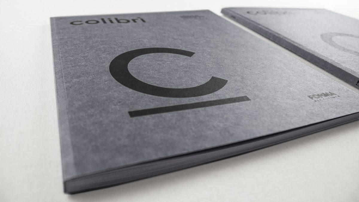 Foto ravvicinata della copertina del catalogo Colibrì gola con la C in primo piano