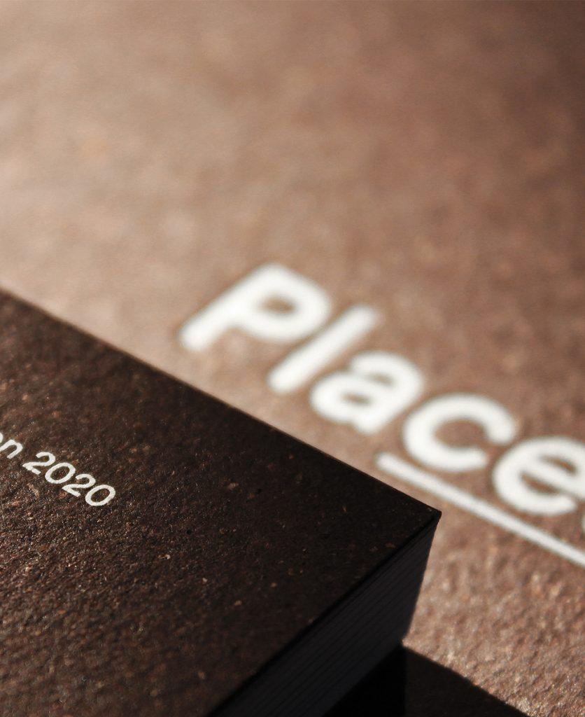 foto di dettaglio della copertina materica del catalogo Places di Imperial Line