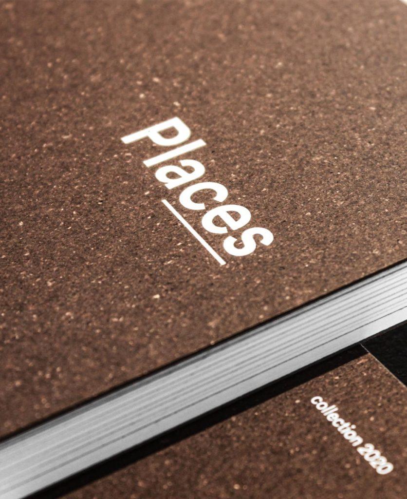 foto di dettaglio del titolo in copertina del catalogo places 2020