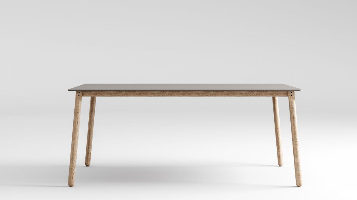 Tavolo button in legno