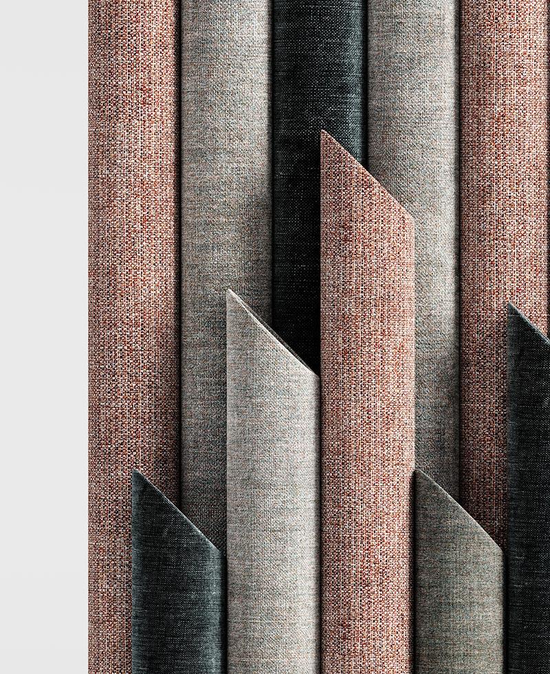 Vista frontale di dettaglio dei tubi che compongono T-wall
